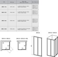 Ravak Eckeinstiegshälfte 2tlg. Kunstglas weiss, B: 900mm H: 1850mm  SRV2-90