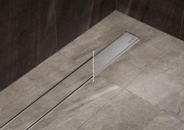 ESS Duschrinne Basic Drain 80cm Drehabdeckung(Fliese oder Edelstahl) ws 50cm Komplett BD-80-FLZ