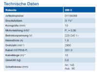 ABS Entwässerungspumpe Robusta 200 C W/TS 01135059