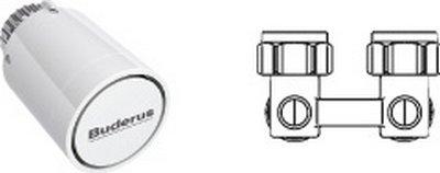 Buderus Logatrend-VC/VCM Zubehörpaket Eck/BD-1 – Thermostatkopf + Hahnblock Eck 7739602313