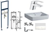 Waschtisch-Paket-4 Geberit Renova Plan bestehend aus...