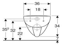 Geberit Tiefspül-WC Renova Plan 4,5/6l wandhängend weiß 202.150.00.0