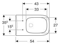 Geberit Tiefspül-WC Renova Plan 4,5/6l wandhängend SPÜLRANDLOS weiß 202.170.00.0