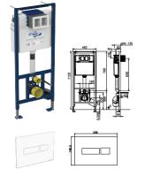 WC-Paket-5 Geberit Renova Nr.1 bestehend aus Vorwandelement, WC, Sitz, Schallschutzset