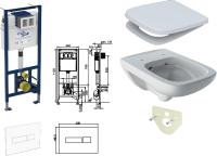 WC-Paket-8 Geberit Renova Plan SPÜLRANDLOS bestehend aus Vorwandelement, WC SPÜLRANDLOS, Sitz, Schallschutzset