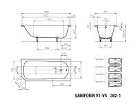 Kaldewei Badewanne Stahl Saniform Plus 362-1 160x70cm...