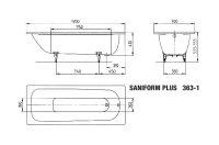 Kaldewei Badewanne Stahl Saniform Plus 363-1 170x70cm...