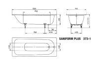 Kaldewei Badewanne Stahl Saniform Plus 373-1 170x75cm...
