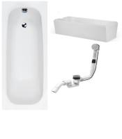 Badewanne-Paket-9 Hoesch Riviera Acryl 170x70cm bestehend aus Badewanne, Wannenträger, Ab- und Überlaufgarnitur