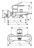 Armaturen-Paket-2 Hansgrohe Vernis Blend bestehend aus Waschtischarmatur, Brausearmatur, Wannenarmatur
