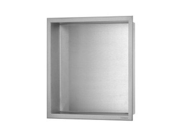 ESS Container BOX Wandnische mit Rahmen 300x300x100mm,Nische + Rahmen edelstahl gebürstet