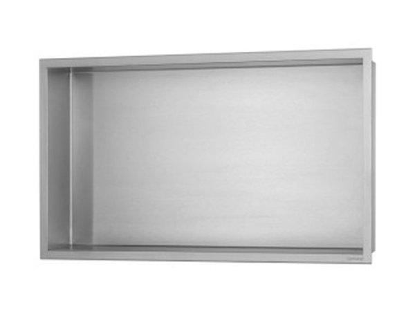 ESS Container BOX Wandnische mit Rahmen 600x300x100mm,Nische + Rahmen edelstahl gebürstet