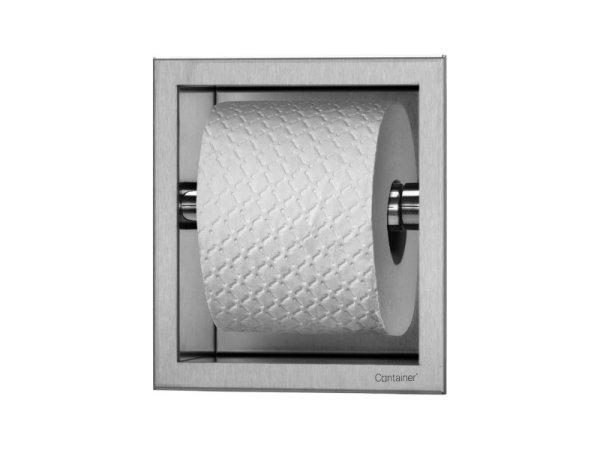 ESS Container Toilettenpapierhalter 173x173x86mm,Nische + Rahmen edelstahl gebürstet