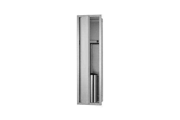 ESS Container WC-Bürstengarnitur mit Ablagefach, 173x622x140mm, Nische + Rahmen edelstahl gebürstet
