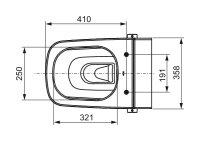 TECEone WC Tiefspüler mit Duschfunktion 9700200