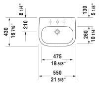 Duravit Waschtisch D-Code 550x430mm weiß 231055