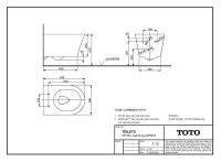 TOTO GP Wand-WC CW553Y Tornado-Flush, Spülrandlos