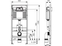 TECEbase WC-Vorwandelement 3in1 Set, Spülkasten...