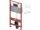 TECEbase WC-Vorwandelement 3in1 Set, Spülkasten inklusive Betätigungsplatte und Befestigungssatz Höhe 1120mm 9400400
