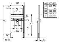 Grohe Waschtisch-Element Rapid SL 38554 für...
