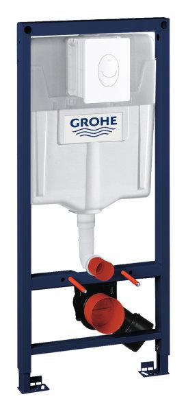 Grohe WC-Set Rapid SL 38764 BH 1,13m mit Abdeckplatte Skate Air alpinweiß