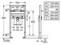 Grohe Waschtisch-Element Rapid SL 38541 für Einlochbatterie Bauhöhe 1,00m