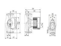 GRUNDFOS Elektr. geregelte Umwälzpumpe MAGNA3 50-60F PN6/10 240mm 1x230V DE 97924660
