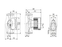 GRUNDFOS Elektr. geregelte Umwälzpumpe MAGNA3 65-150F PN6/10 340mm 1x230V DE 97924679