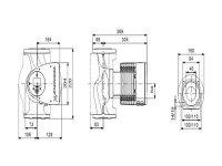 GRUNDFOS Elektr. geregelte Umwälzpumpe MAGNA3 40-180F PN6/10 250mm 1x230V DE 97924651