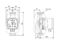 GRUNDFOS Hocheffizienz Umwälzpumpe ALPHA2 25-40 180mm 1x230V G1 1/2 DACH 99260497