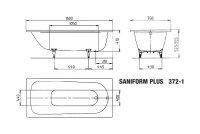 Kaldewei Badewanne Stahl Saniform Plus 372-1 160x75cm weiss 112500010001