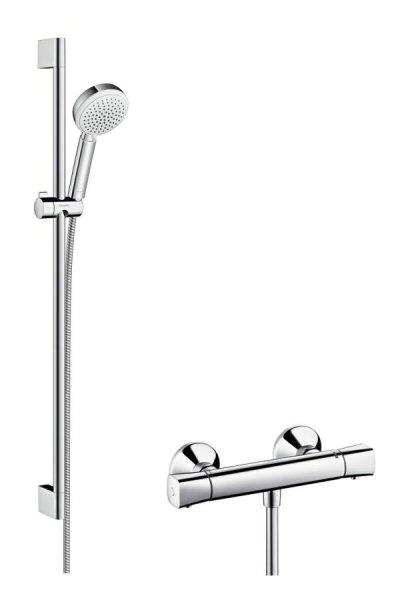 Hansgrohe Brausenkombi Crometta 100 Vario/ Ecostat Univ./UCrometta 900mm weiß/chrom 27031400